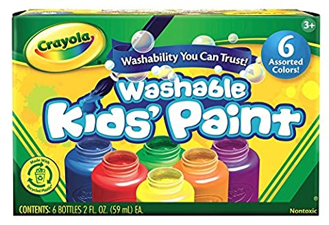 Crayola Washable Kid's Paint (6 count) (Paint & Wall Covering Supplies)