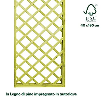 Gitterwerk Trennwand U0027aus Imprägniertem Holz Für Außen Garten 40 X 180 Cm