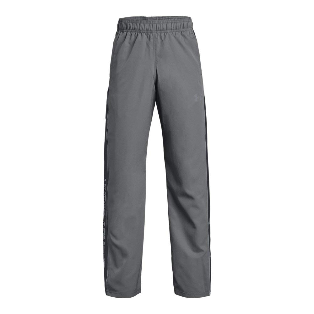Under Armour Boys Interval Warm-Up Woven Pants, Graphite (040)/Steel, Youth Medium
