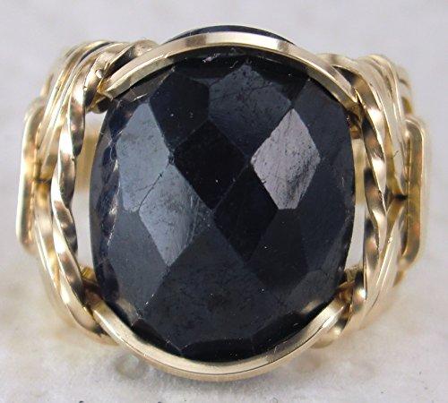 Natural Sapphire 10 carat Gemstone Ring Mens Ladies Unisex 14k Gold Filled or Sterling -