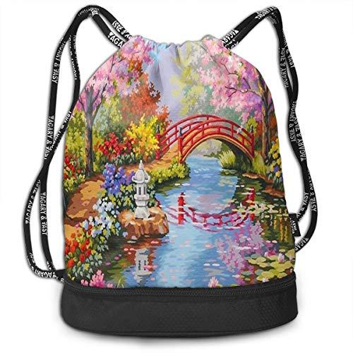 drawstring bag flower garden spring