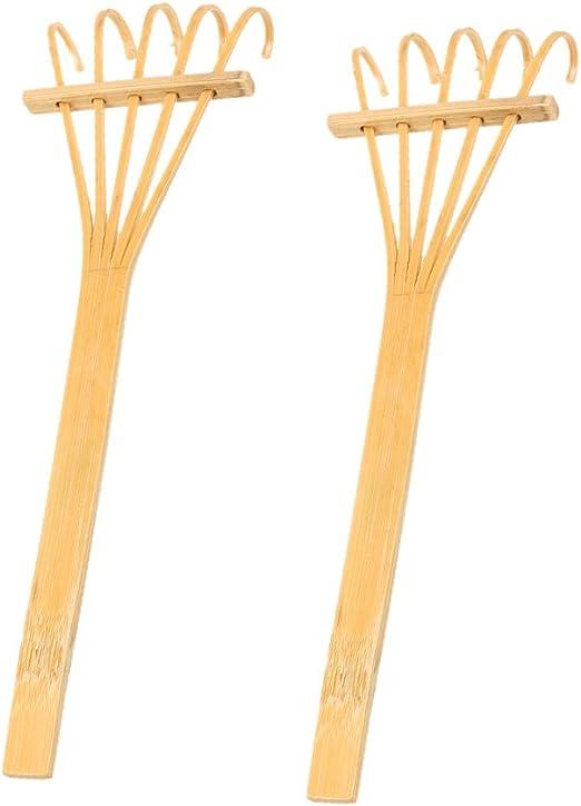 2 Unids Mini Rastrillo de Bambú Decoración en Miniatura para Jardín Zen Japonés - #1: Amazon.es: Jardín