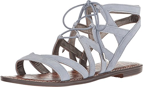 Sam Edelman Gemma Damen Römersandalen Sandalen Dusty Blue Kid Suede Leather