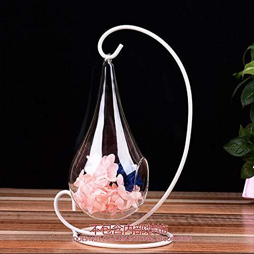 r/écipients pour bougeoirs cr/éatifs avec bougeoirs d/écoratifs pour la d/écoration de Bureau LISRUI Vase en Verre Suspendu en Forme de Goutte deau de pour Les Plantes /à Fleurs hydroponiques