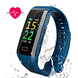 AKASO Fitness Tracker Heart Rate Monitor Waterproof Watch with Sleep Monitor Calorie Counter Pedometer for Android/IOS(Color Screen,2018 Ver).