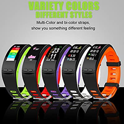 Ninecoo HD Color Display Fitness Tracker,Smart Fitness Watch Activity Tracker Sleep Heart Rate Monitor Sport GPS Tracker Calorie Counter Bluetooth Wristband for iOS & Android