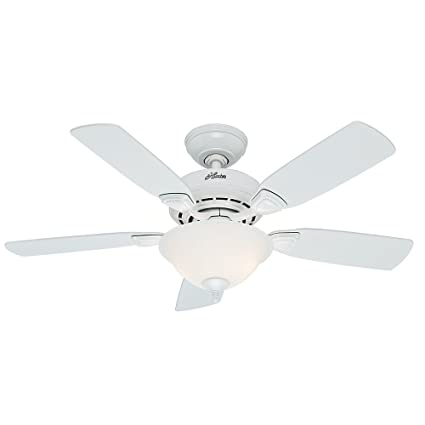 Hunter fan company 52080 caraway 44 inch snow white ceiling fan with hunter fan company 52080 caraway 44 inch snow white ceiling fan with five snow white aloadofball Images