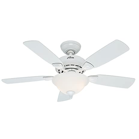 Hunter fan company 52080 caraway 44 inch snow white ceiling fan hunter fan company 52080 caraway 44 inch snow white ceiling fan with five snow white mozeypictures Image collections