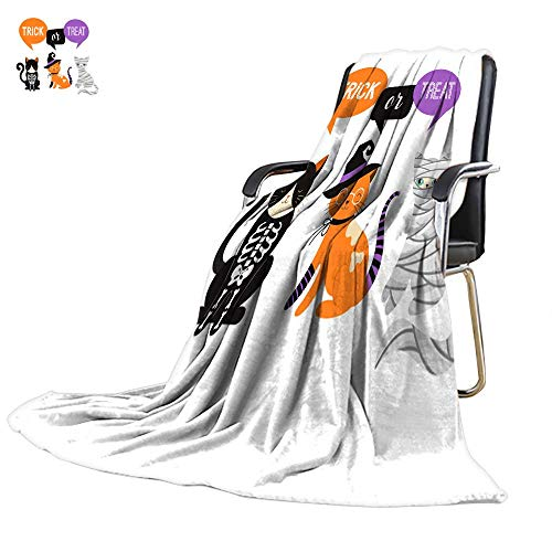 (UGG Throw blanketflannel Throw blanketHappy Halloween - Cats in Monsters Costumes Halloween Party Vector Illustration Banner Elements set3)