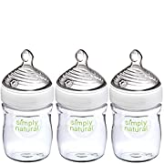 NUK Simply Natural Baby Bottle, Clear, 5oz 3pk