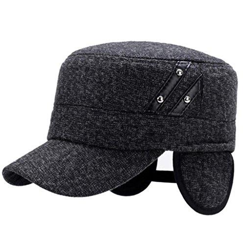 el Invierno casual Aged's Hat Middle peludo proteger hombres exterior grey gruesos ZHAS oído light Sombrero Hat xSv5TT