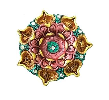 buy craft art india lotus design handmade earthen clay terracotta