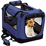 2PET Foldable Dog Crate - Soft, Easy to Fold & Carry Dog Crate for Indoor & Outdoor Use - Comfy Dog Home & Dog Travel Crate -