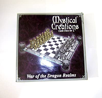 Mystical Creations Castle Chess Set, War of the Dragon Realms