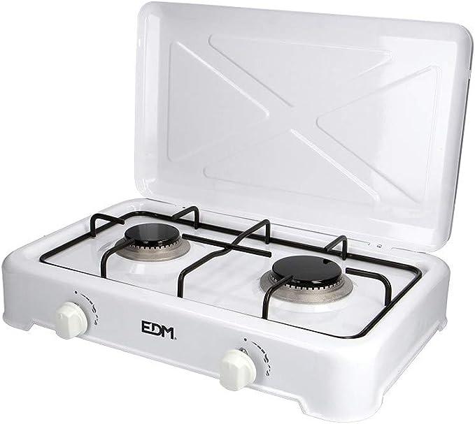 EDM 07420 Cocina de Gas Esmaltada con 2 Fuego, Varios Colores