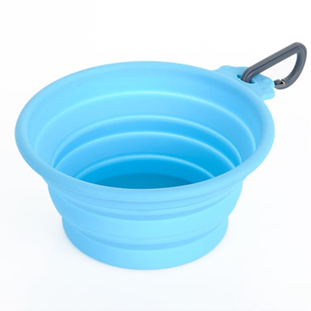 xueyanPerro plegable tazón de fuente del perro al aire libre fuera de agua portátil para mascotas bowl Bowl silicona recipiente gato comida , s- [10kg, 12.88.85.5]
