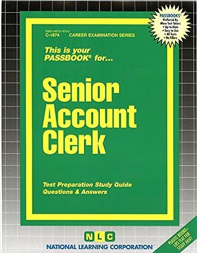 senior account clerk passbooks passbooks for career opportunities rh amazon com Accounting Accounts List Intermediate Accounting Study Guide