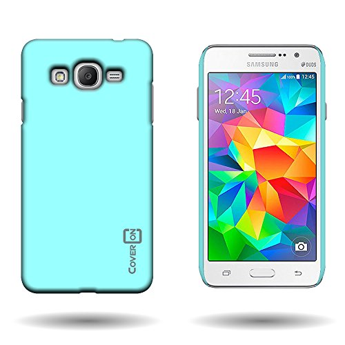 1-piece Hard Rubberized Plastic Shell Case Teal CoverON Slim Snap-On Protective Phone Cover for Samsung Galaxy Grand Prime
