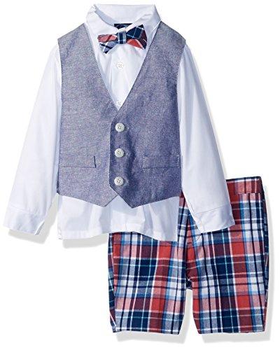 Gum Bubble Infant Apparel (IZOD Baby Boys Four Piece Formal Vest Set, Bubble Gum, 12 Month)