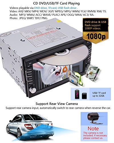 EinCar Car Stereo GPS Car Radio Head Touch Screen Player In-dash Car AM/FM SD AUX Remote Control With Free Backup Camera