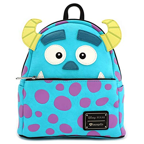 Loungefly Disney Monsters Inc. Sully Mini Faux Leather Backpack (Blue) ()