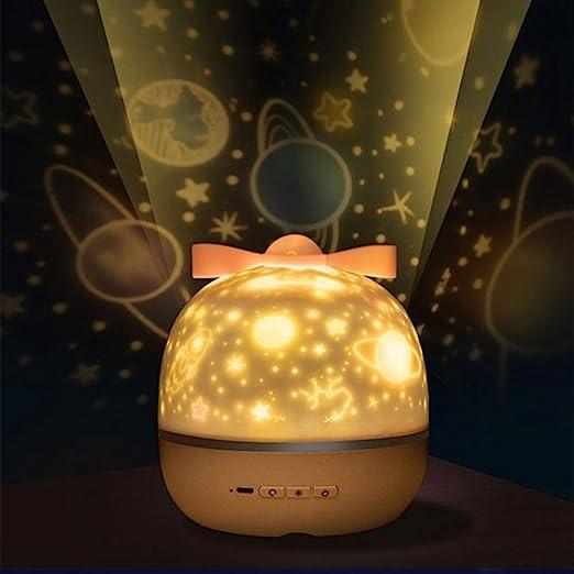 SZ&LAM Proyector para Bebés, Luz Nocturna Giratoria De 360 ...
