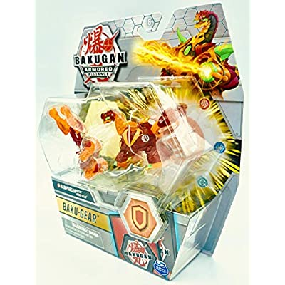Bakugan Ultra, Pyrus Ramparian with Transforming Baku-Gear, Armored Alliance 3-inch Tall Collectible Action Figure…: Toys & Games