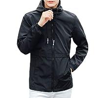 VICGREY ❤ Giacca Invernale Cappuccio da Uomo Antivento Uomo Imbottito Cappotto Collare Eco-Pelliccia Caldo Impermeabile A Prova di Vento Piumino Giacca Parka Giubbini