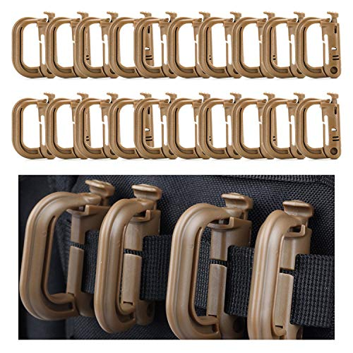- Molle Attachments Carabiner Clip Keychain Military Multipurpose Plastic Small D-Ring Grimloc Locking for 1
