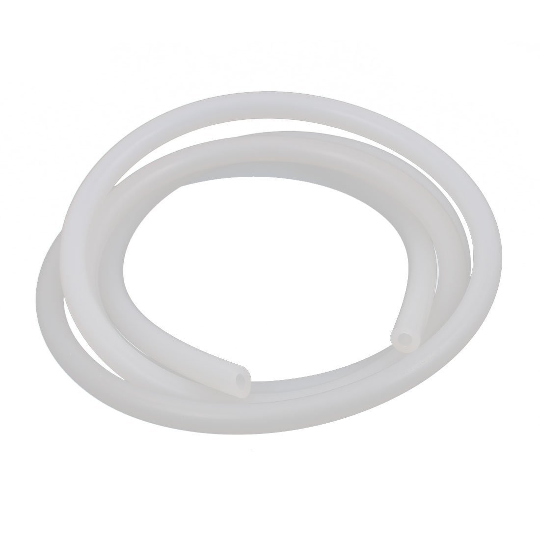 sourcingmap Silicone Tube 4mm ID X 7mm OD 3.3 Flexible Silicone Rubber Tubing Water Air Hose Pipe Translucent for Pump Transfer