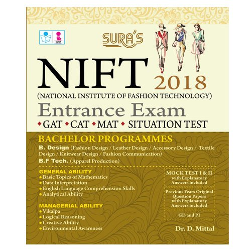 National Institute Of Fashion Technology Entrance Exam Books 2018 Gat Cat Mat Situation Test 9788172544966 Amazon Com Books