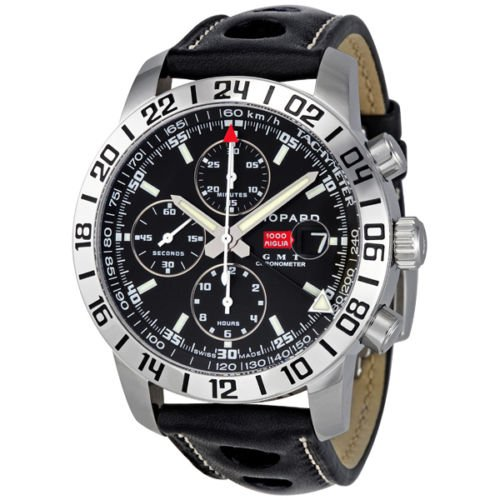 b641e2940de7 Chopard Mille Miglia GMT Steel Black Chronograph Mens Watch 168992-3001   Amazon.ca  Watches