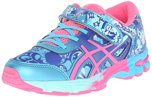 ASICS Gel-Noosa Tri 11 PS Running Shoe Little Kid, Turquoise/Hot Pink/Asics Blue, 2 M US Little Kid