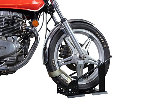 Pit Posse PP2900 Motorcycle Wheel Chock Nest Adjustable Self Locking Bike Stand Removable- 5 Year Warranty by Pit Posse (Image #3)