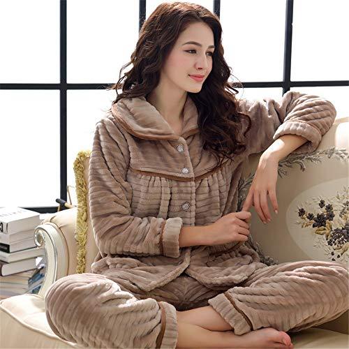 Invierno Franela Pants Sleep De Sport 2 Gruesa Baijuxing A Cálido Mujeres Polar Casual Pijamas Xl Suave Domicilio Coral Otoño Servicio Sets E TfTF0nqO
