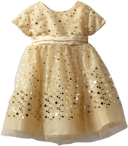 Blueberi Boulevard Baby Girls' Gold Sequin Dress