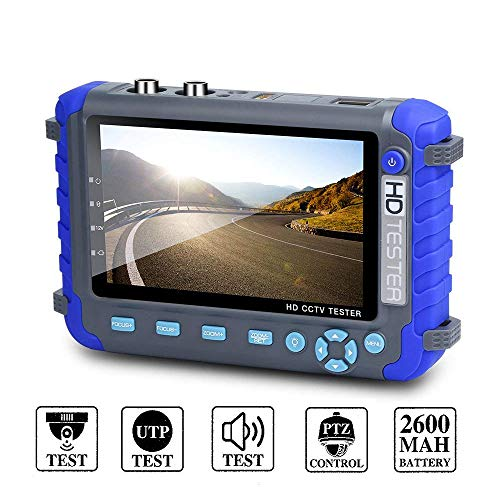Video Controller Cctv - Electop 5 Inch Camera Tester CCTV Tester AHD TVI CVI HD Coaxial Tester Video Monitor Tester Analog Video Tester with PTZ Controller Image Generator DC 12V Output-IV8C
