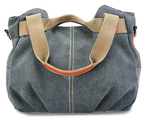 Hobos Bags Casual Tote Canvas Women Shoulder Bag A Grey Tibes Handbags Retro Vintage nR8dq8X