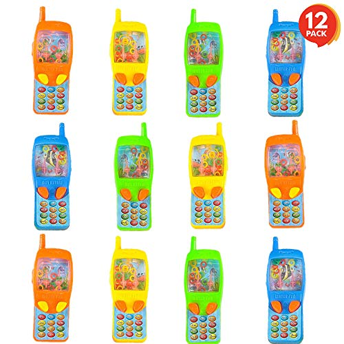 ArtCreativity 4 Inch Cellphone Water Ring Game - Pack of 12- Colorful Handheld Phone Game for Kids - Fun Birthday Party Favors for Children, Contest Prize - Great Gift Idea for Boys, Girls, Toddlers]()