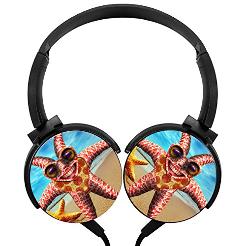 Hi-Fi LightWeight Funny Strange Starfish Headphones Wired Portable Stereo Headsets for PC/ Cell Phones/ - Jacob Sunglasses Marin