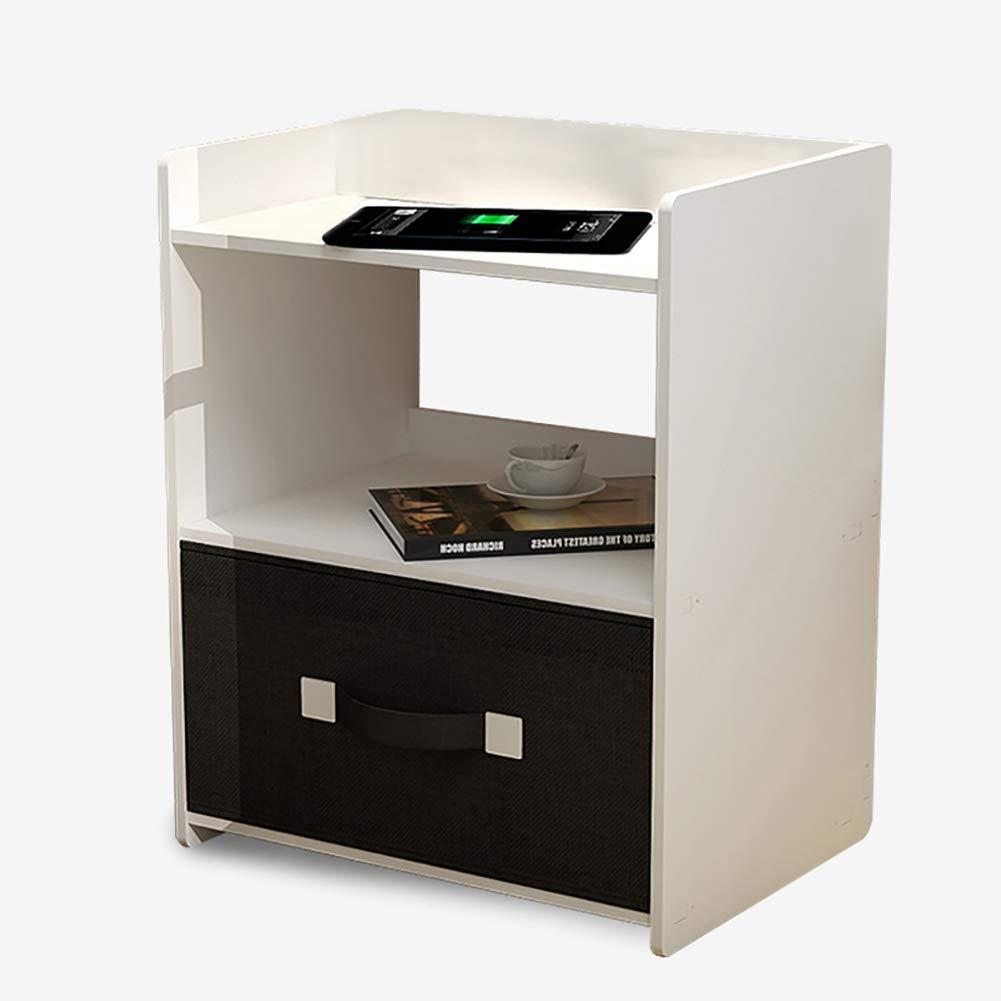 1 Small coffee table Das NachttischSofa ist aus multifunktionalen Schrank, mit Schubladen leicht zu reinigen und umweltfreundlich, weiß (40  30  High 49cm).