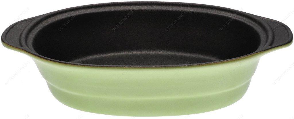 M.V. Trading MV303031 Lasagna/Casserole Gratin Oval Baking Dish, Set of 2, Green