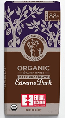 Equal Exchange Organic Chocolate Extreme Dark 88%, 2.8 Oz, 6-pack