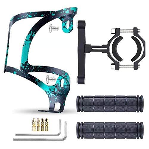 JIANKUN 자전거는 병 케이지 설정 알루미늄 보편적인 자전거 컵홀더 미끄럼 부드럽고무 산악 자전거 핸들의 그립 금관 악기 자전거 브레이크프터 케이블 끝 모자