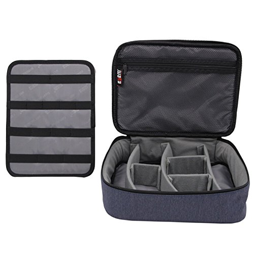 BUBM Large Electronic Accessories Carrying Organizer with Cable Tie-Dark Blue by BUBM