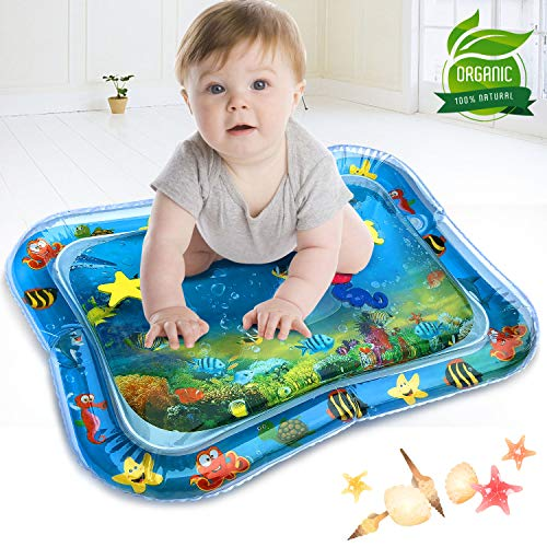 Inflatable Tummy Time Premium Water Mat, The Perfect Fun Play Activity Center for Infants & Toddlers Babys Stimulation Growth