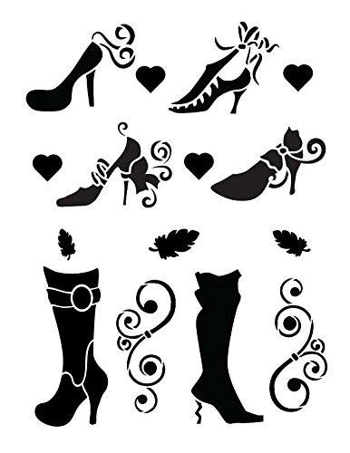 Fashion Shoes Stencil By StudioR12