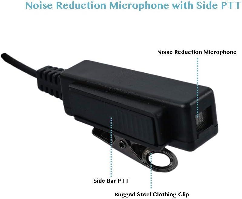 Klykon 2 Wire Surveillance Kit Eeapiece Headset for Motorola MTP850 MOTOTRBO XPR6550 XPR7550 XPR7580 XPR7380 APX6000 APX4000 XPR7350 APX7000 XPR6350 Walkie Talkie 2 Way Radio