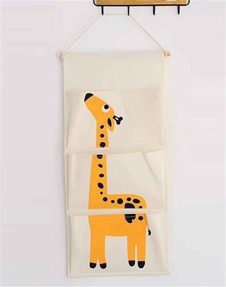 H/ängender Organizer mit 3 Taschen H/ängeorganizer H/ängeaufbewahrung Aufbewahrungstasche f/ür Kinderzimmer Schlafzimmer Giraffe