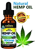 Hemp Oil for Pain & Anxiety Relief, 500 Mg Drops Full Spectrum Hemp for Joint Pain, Sleep, Mood, Skin Health, Inflammation, Omega 3 6 9